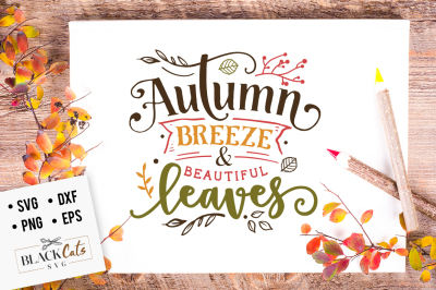 Autumn breeze and beautiful leaves SVG