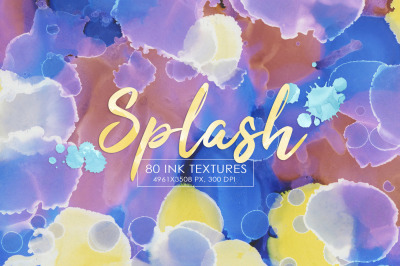 80 Splash Ink Textures