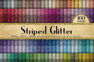 100 Seamless Striped Glitter Texture Digital Papers