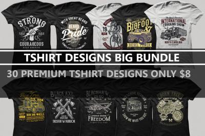 30 Premium Tshirt Designs Big Bundle