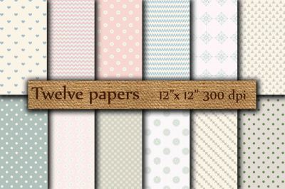 Scrapbook digital papers