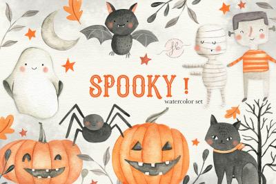 SPOOKY! Halloween Clipart Set