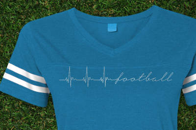 Football Heartbeat | Embroidery
