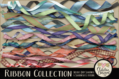 Curled Ribbon Clipart Collection
