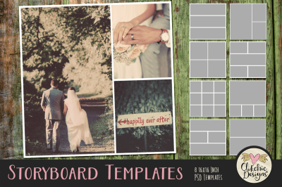 Storyboard Layered Photoshop Templates