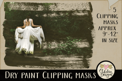 Dry Paint Clipping Masks & Photoshop Tutorial
