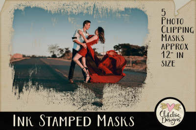 Ink Stamped Clipping Masks & Photoshop Tutorial