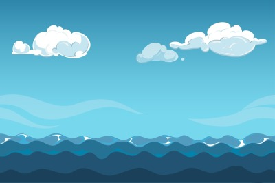Blue sky over the sea background