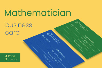 Mathematician Business Card Templates