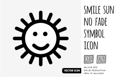 Smile sun no fade symbol icon