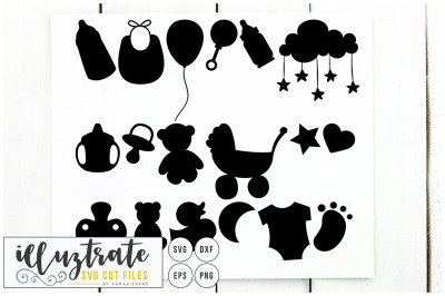 Baby SVG Cut File - Baby Clipart, DXF, PNG