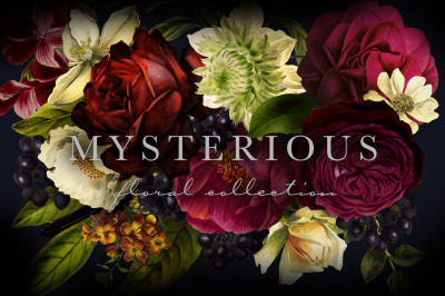 Mysterious Floral Collection Graphics