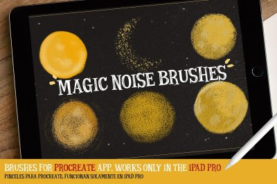 MAGIC NOISE BRUSHES for procreate by Eliza Moreno Illustration in Add-