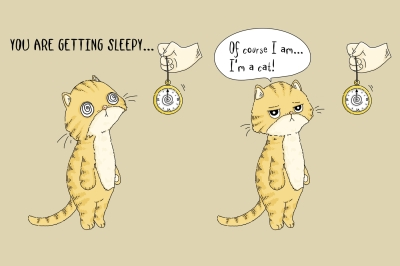 Comic Strip Design - Cat Hypnosis | PNG/JPEG illustration