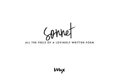 Sonnet - A Handwritten Script