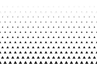 Triangular halftone grid gradient seamless background