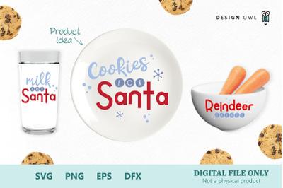 Cookies for Santa bundle SVG PNG EPS DFX