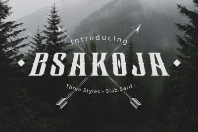 Bsakoja Typeface