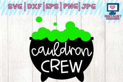 halloween, cauldron crew, witch, svg