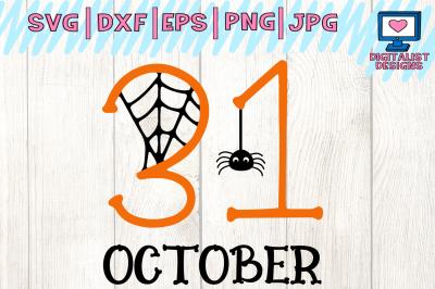 halloween, october 31st, spider, svg