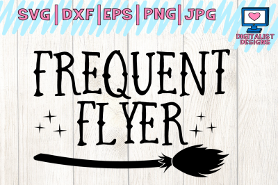 halloween, frequent flyer, witch broom, svg