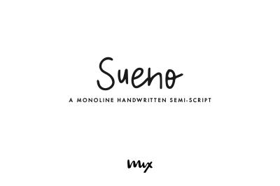 Sueno — A Monoline Semi-Script