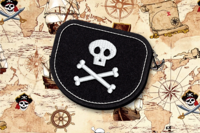 Pirate Patch ITH Feltie | Applique Embroidery