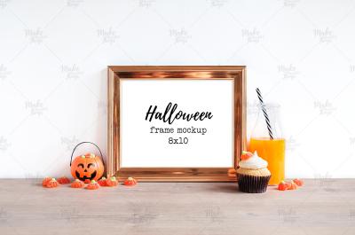 Halloween frames mockup / 2 colors