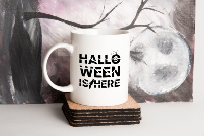 Halloween Coffee mug mock up white cup mockup psd september mockups