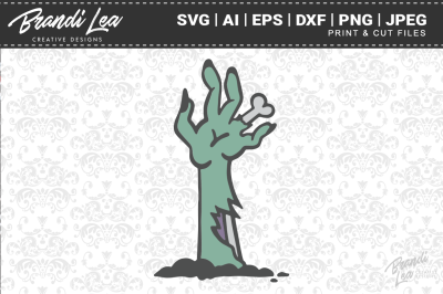 Zombie Hand SVG Cutting Files