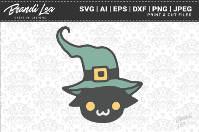 Witch Kitty SVG Cutting Files