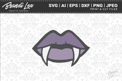 Vampire Lips SVG Cutting Files