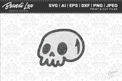 Cute Skull SVG Cut Files