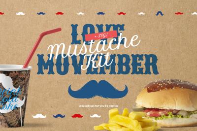 Movember Style Mustache Kit