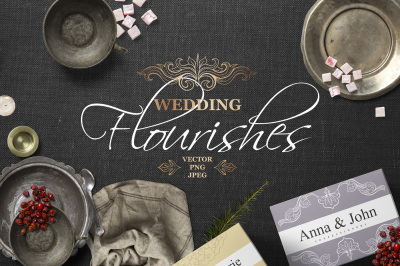 Vintage Wedding Flourishes Bundle