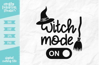 Witch Mode On SVG DXF