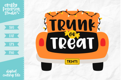 Trunk or Treat SVG DXF