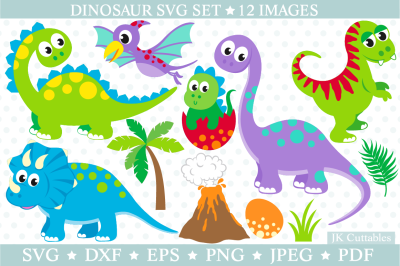 Dinosaur SVG DXF PNG EPS, Dinosaur cut files, Trex SVG