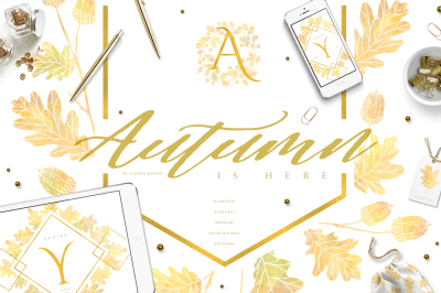 Autumn is Here - Beautiful Fall Clipart