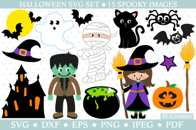 Halloween SVG DXF EPS PNG JPEG PDF, Halloween cut files