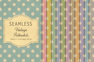 Vintage polkadot patterns
