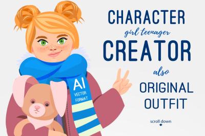 Girl teenager CHARACTER CREATOR (AI)