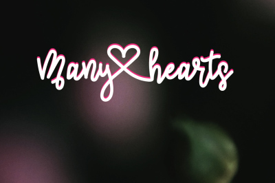 Many heart | Elegant Script Font