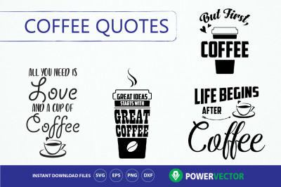 Coffee quotes Svg Bundle