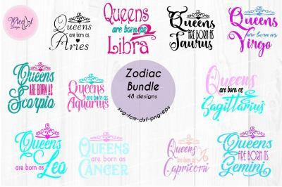 Zodiac bundle svg, all zodiac signs, Queens are born as,
