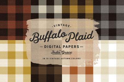 Autumn Buffalo Check Plaid Digital Papers