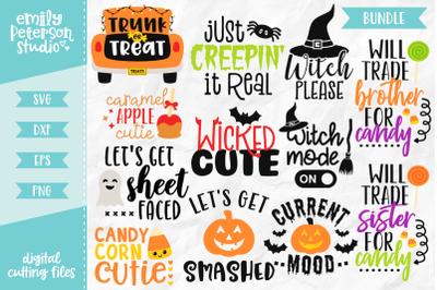 Halloween Bundle SVG DXF - 12 Designs V2