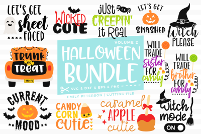 Halloween Bundle SVG DXF - 12 Designs V2