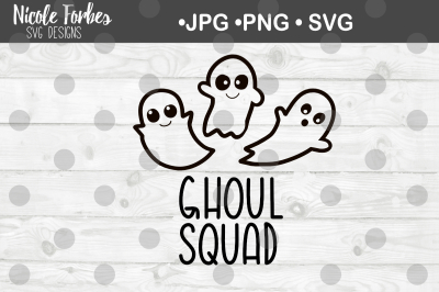 Ghoul Squad SVG Cut File