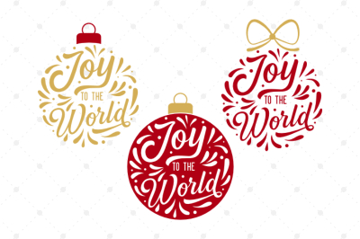 Joy To The World Ornaments SVG Files